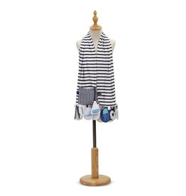 mommy and me activity scarf blue