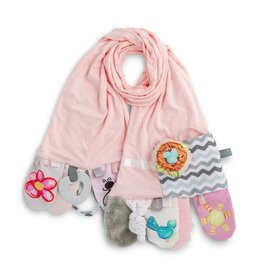 mommy and me activity scarf pink