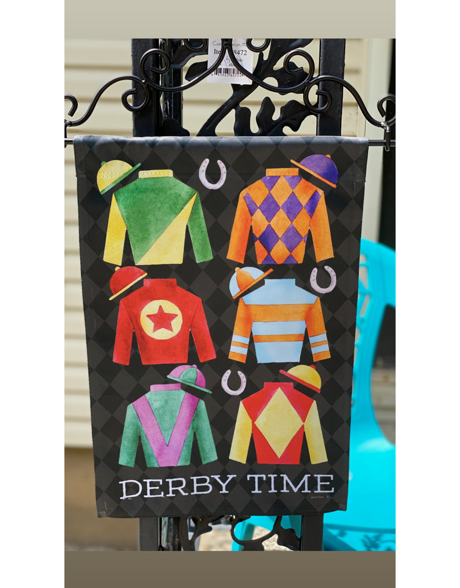 Derby Time Flag w/silks