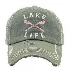 Lake Life Rhinestone Gray hat