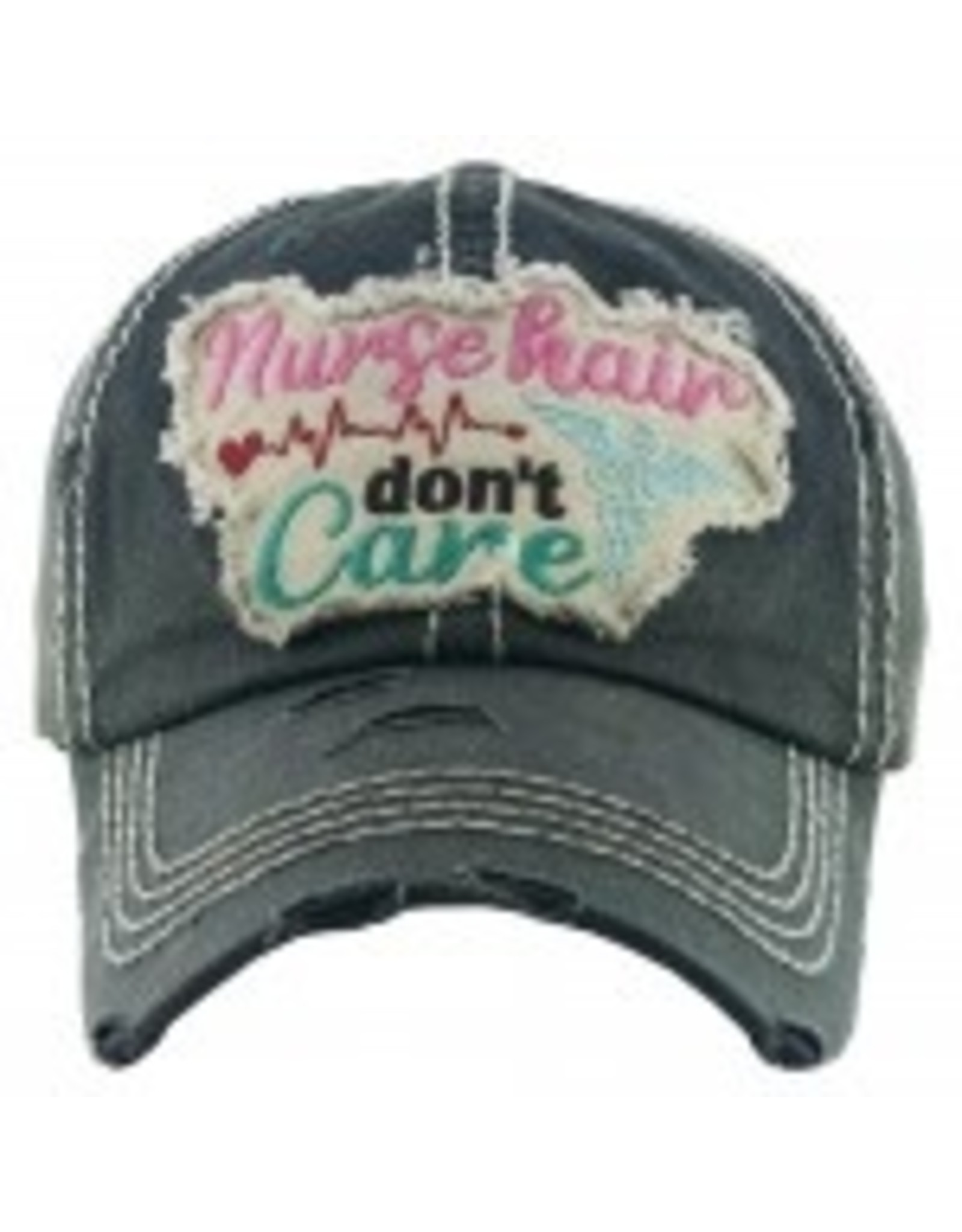 Nurse Hair Don't Care Hat Gray