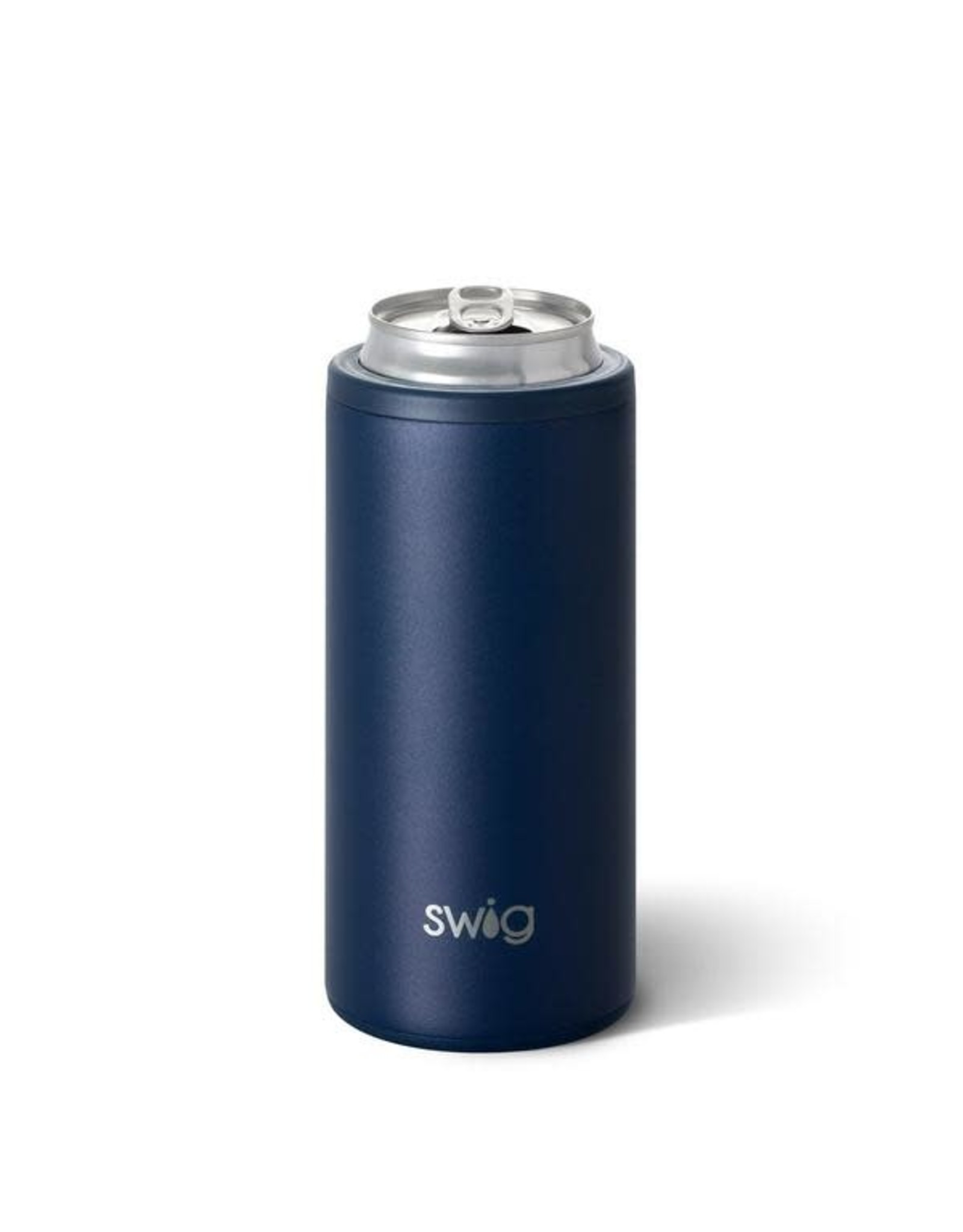 Matte Navy Skinny Can Coozie