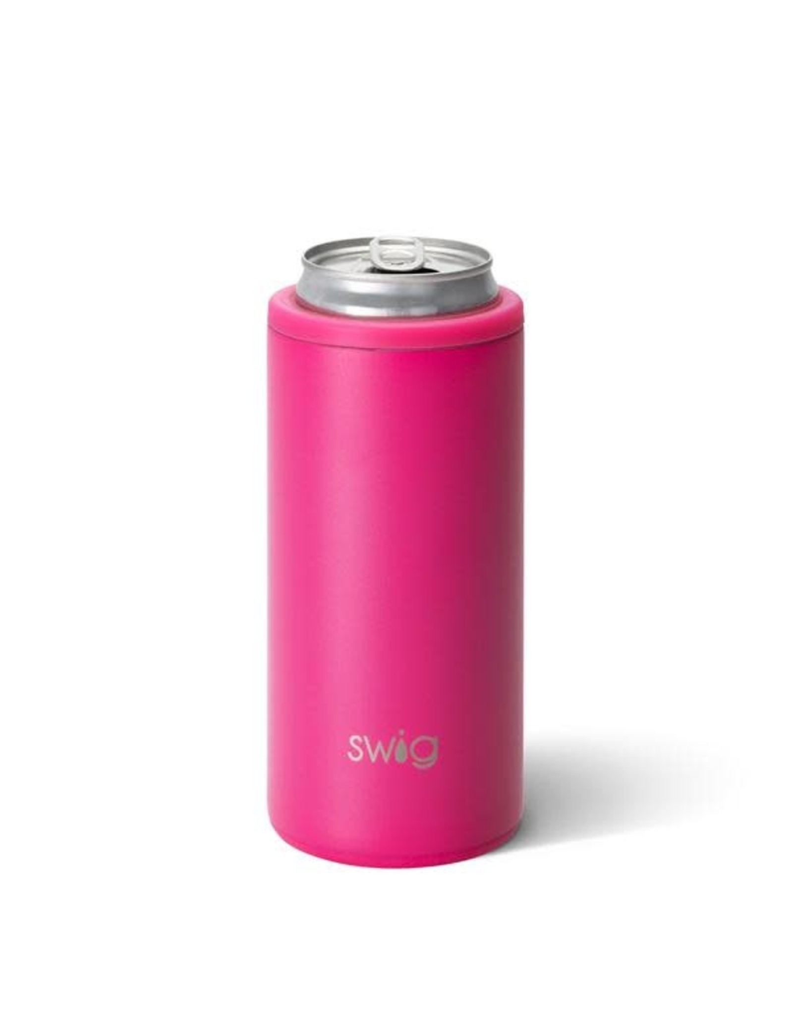 Matte skinny can hot pink
