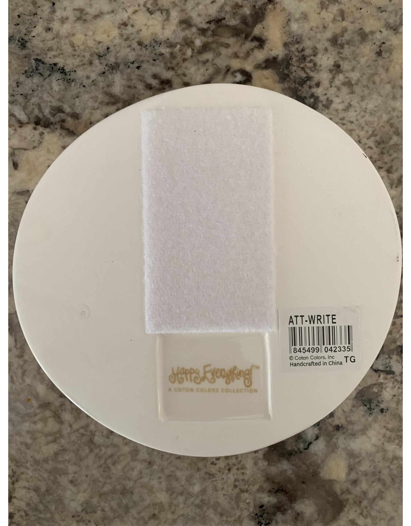 Lg. Ceramic Attachment with Mint Green Silk