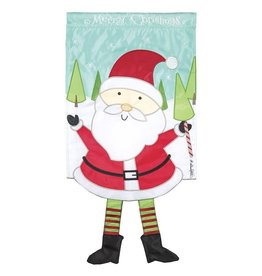 Dangle Legs Santa Garden Flag