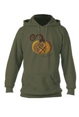 Plaid pumpkin hoodie (Green) Med