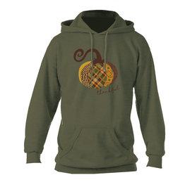 Plaid pumpkin hoodie (Green) Small