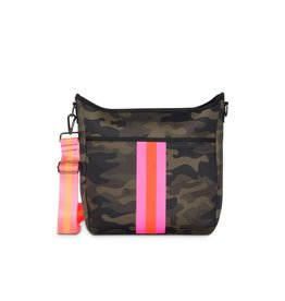Blake Crossbody Showoff- Green Camo-Pink Stripe