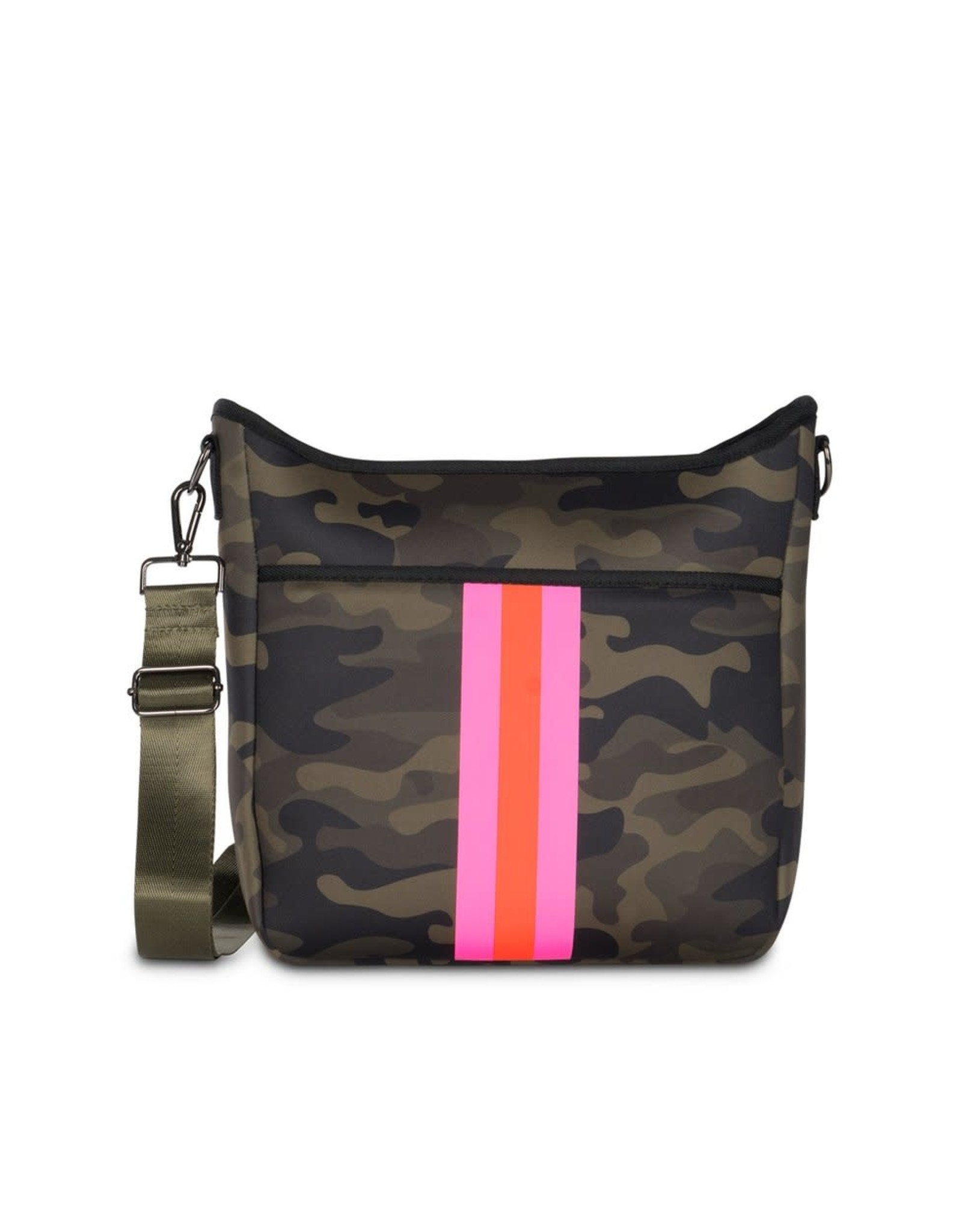 Blake Crossbody Showoff- Green Camo-Pink Stripe