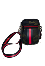Casey Cell Phone Brat Green Camo w/red