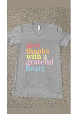 Give Thanks With A Grateful Heart TShirt (Medium)