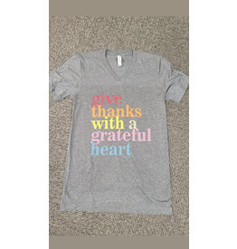 Large Give Thanks With A Grateful Heart TShirt