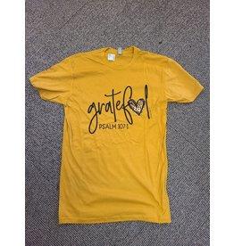 Small Grateful Heart Mustard TShirt