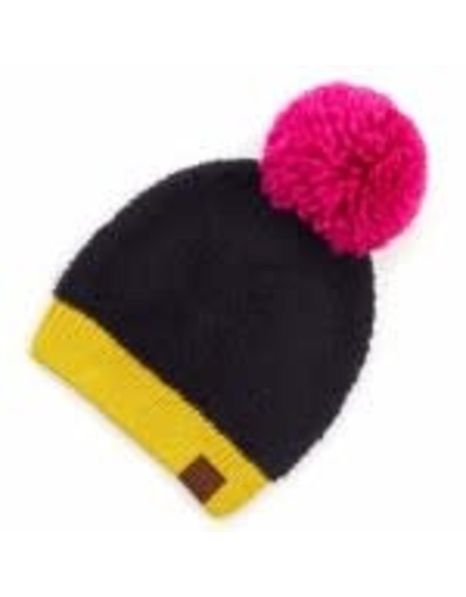 CC Black/Pink Sherpa Knit Hat