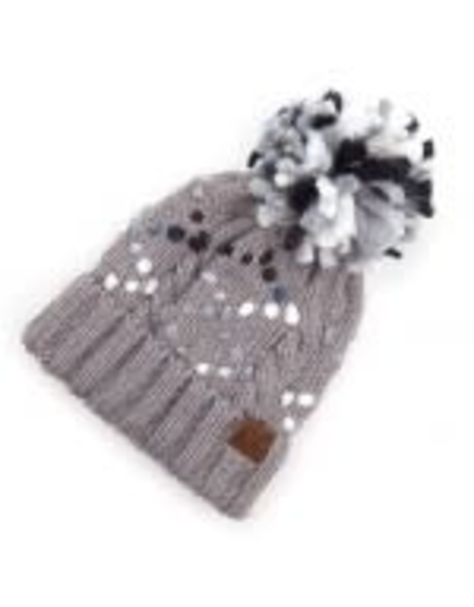 CC Gray Chunky Yarn Knit Hat