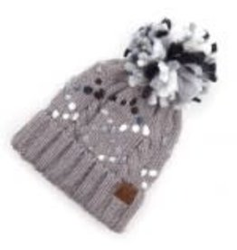 CC Gray Chunky Yarn Knit Hat