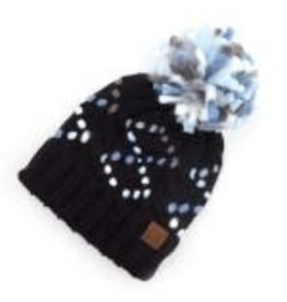 CC Black Chunky Yarn Knit Hat