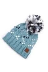 CC Blue Chunky Yarn Knit Hat