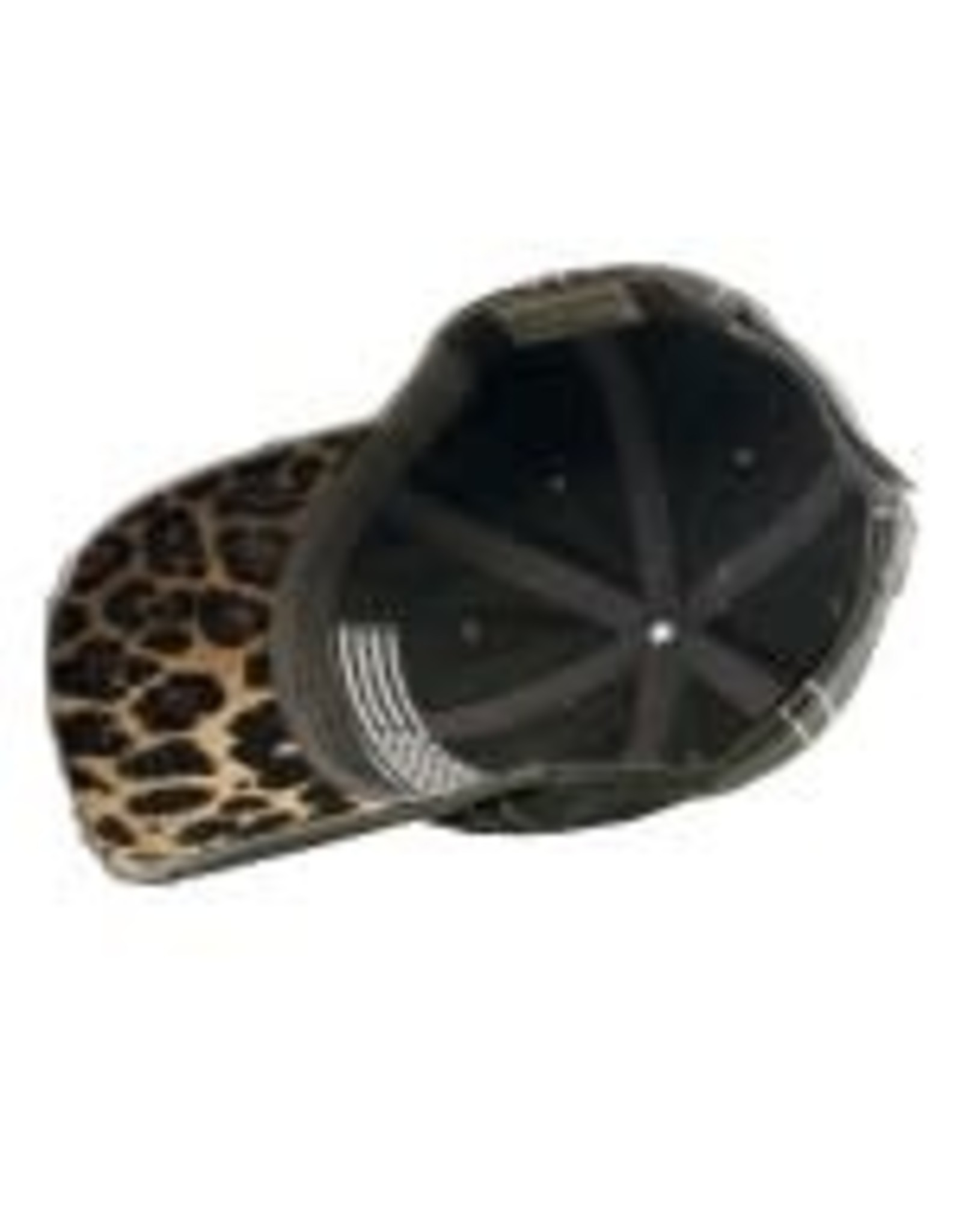 Distressed Leopard Gray Flag Hat