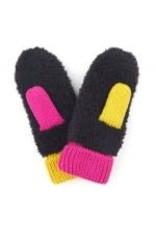 CC Black/Pink/Yellow Mittens