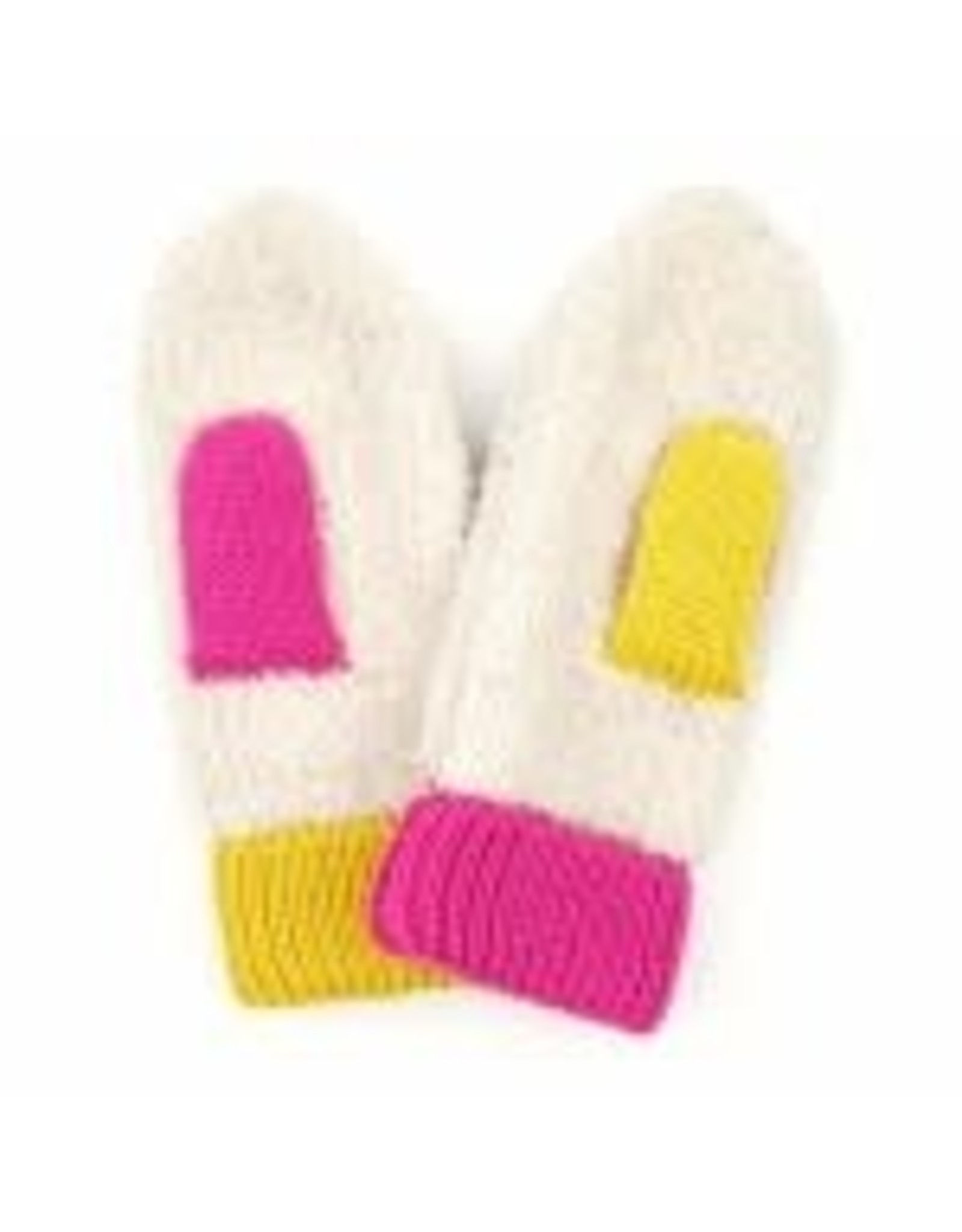 CC Cream/Pink/Yellow Mittens