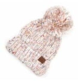 CC Ivory Chunky Yarn Knit Hat