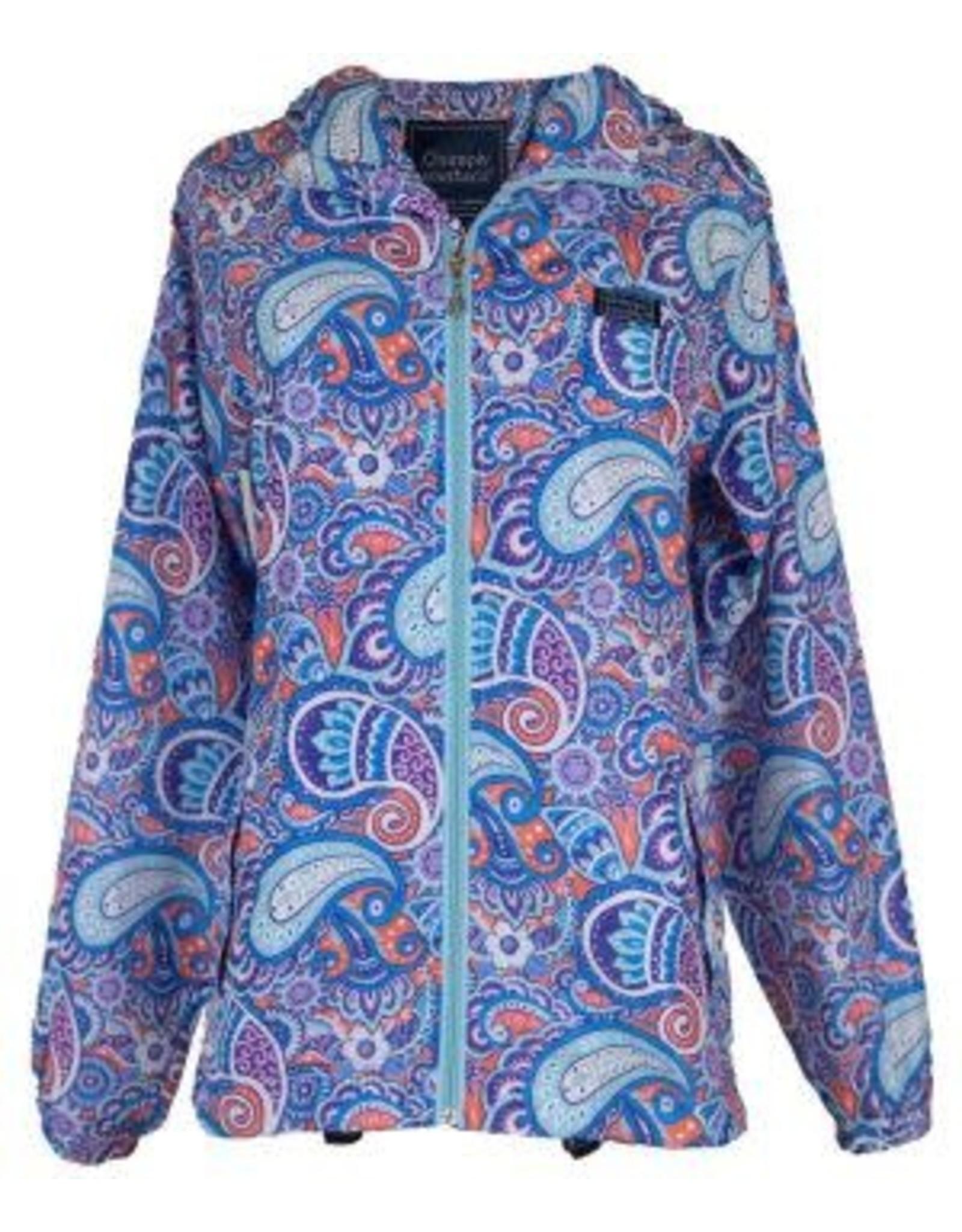 Paisley Rain Zip Jacket/Large