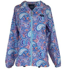 Paisley Rain Zip Jacket/Small