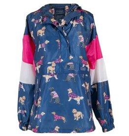Pullover Dog Rain Jacket/Med