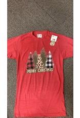 Christmas Pattern Trees T Shirt/Medium