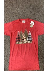Christmas Pattern Trees T Shirt/XLarge