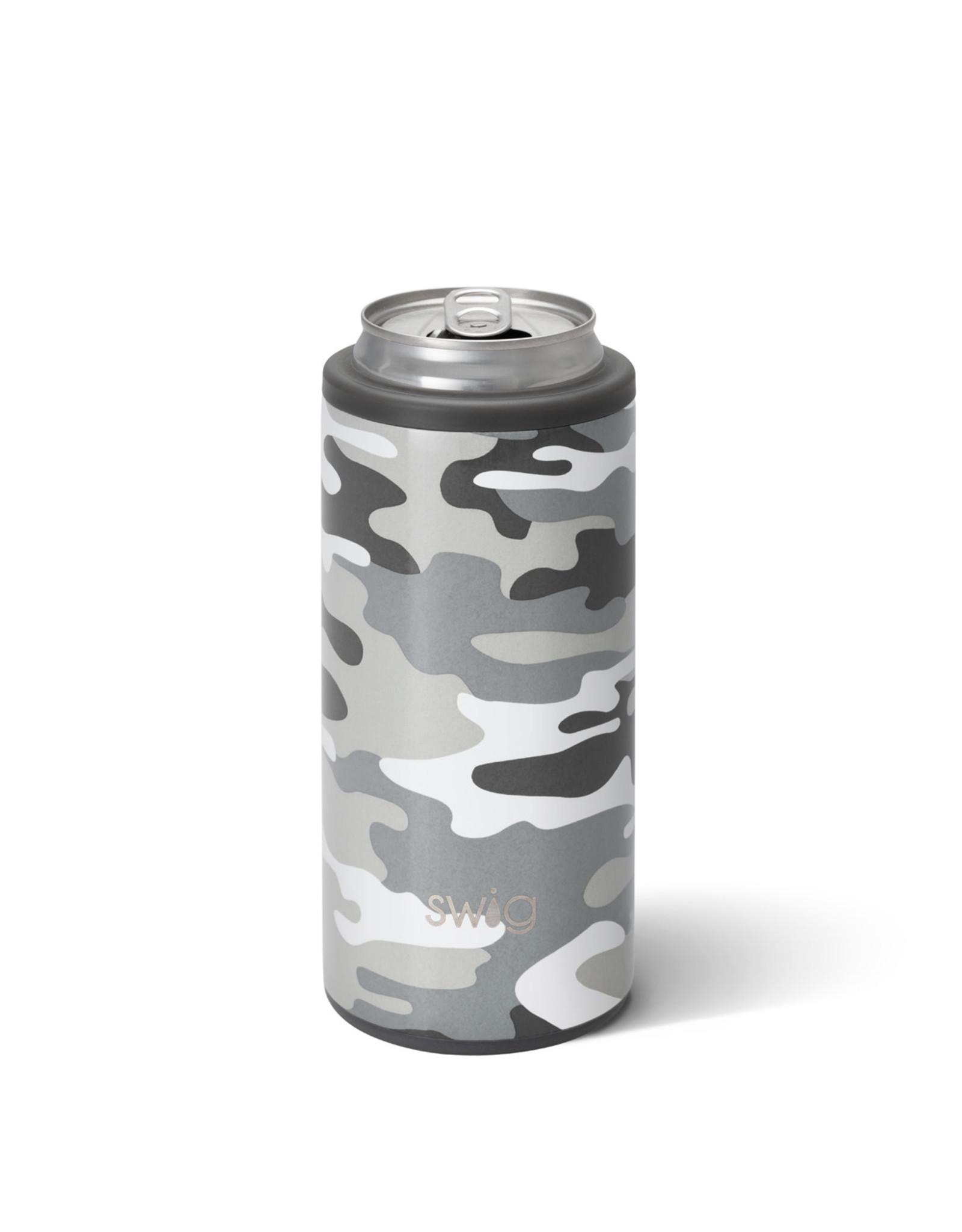Swig 12 oz Incognito Camo Skinny Can Cooler
