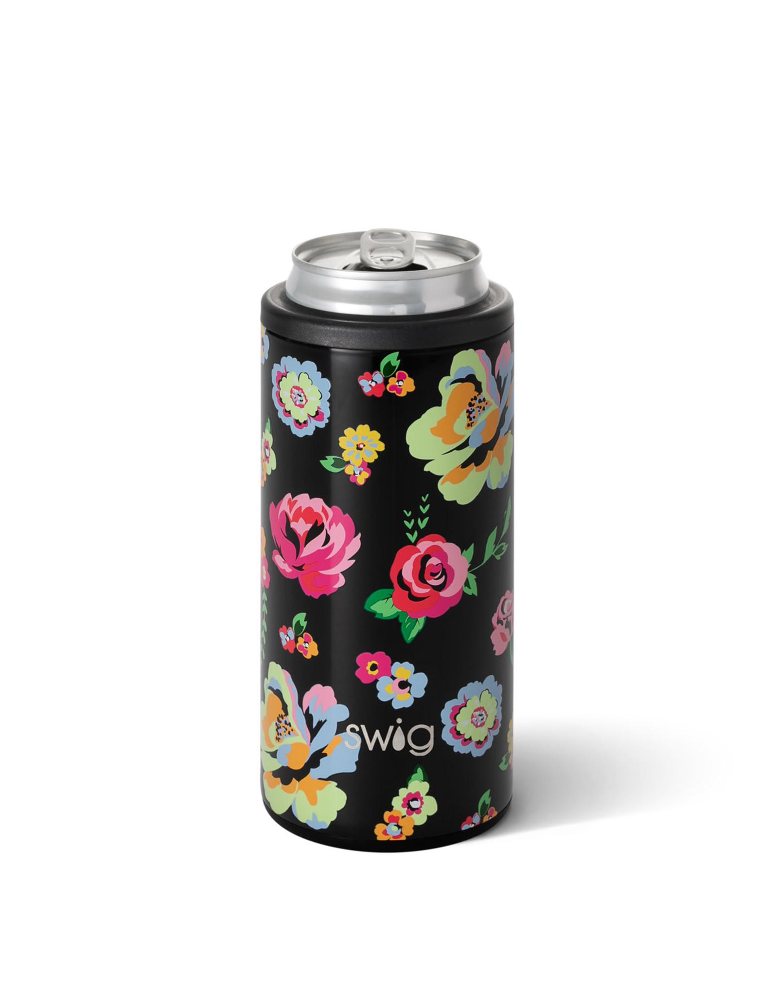 Swig 12oz Fleur Noir Skinny Can Cooler