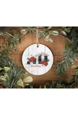 Merry Ky Christmas Ornament Doodles