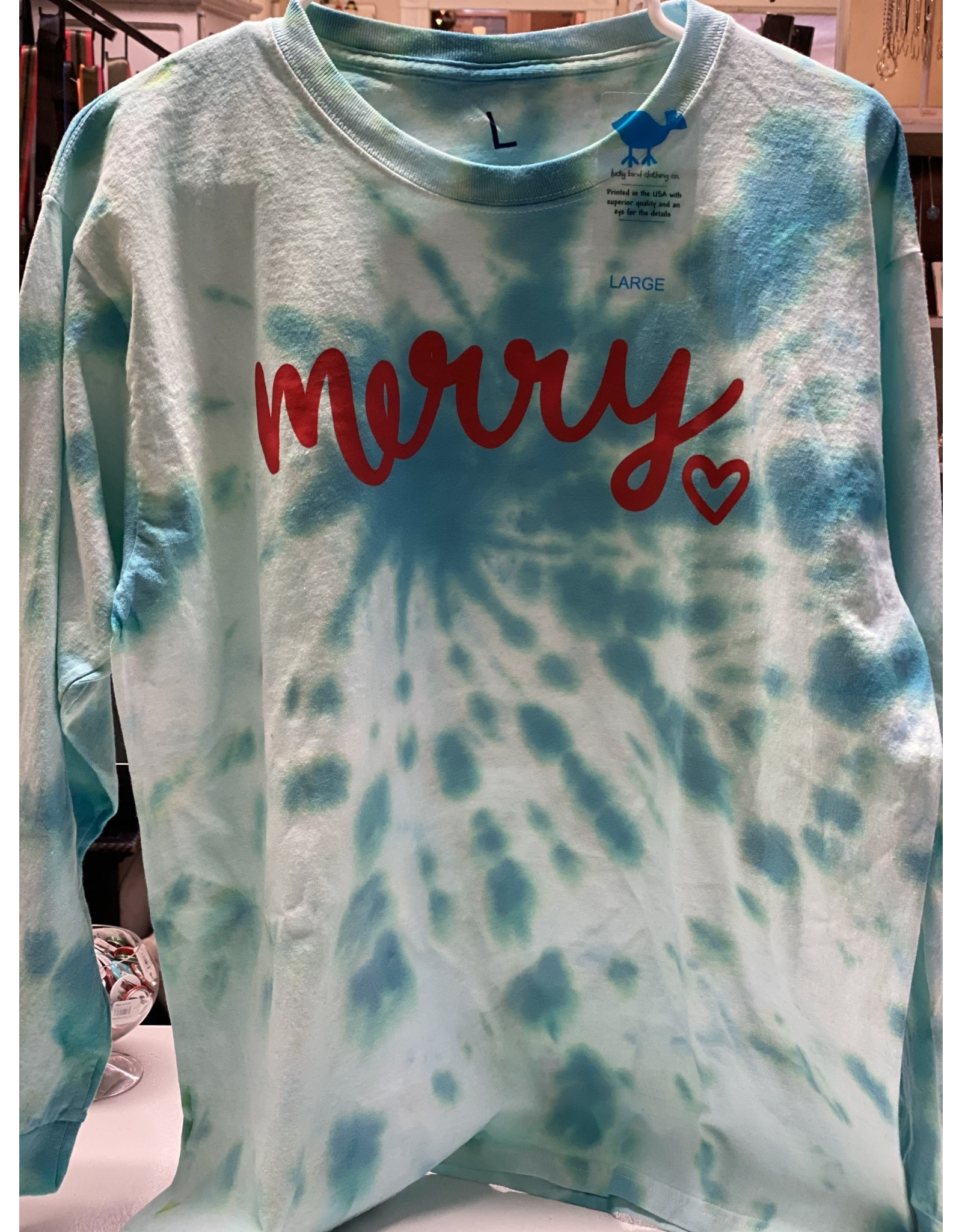 Tie Dye- Merry shirt-Small