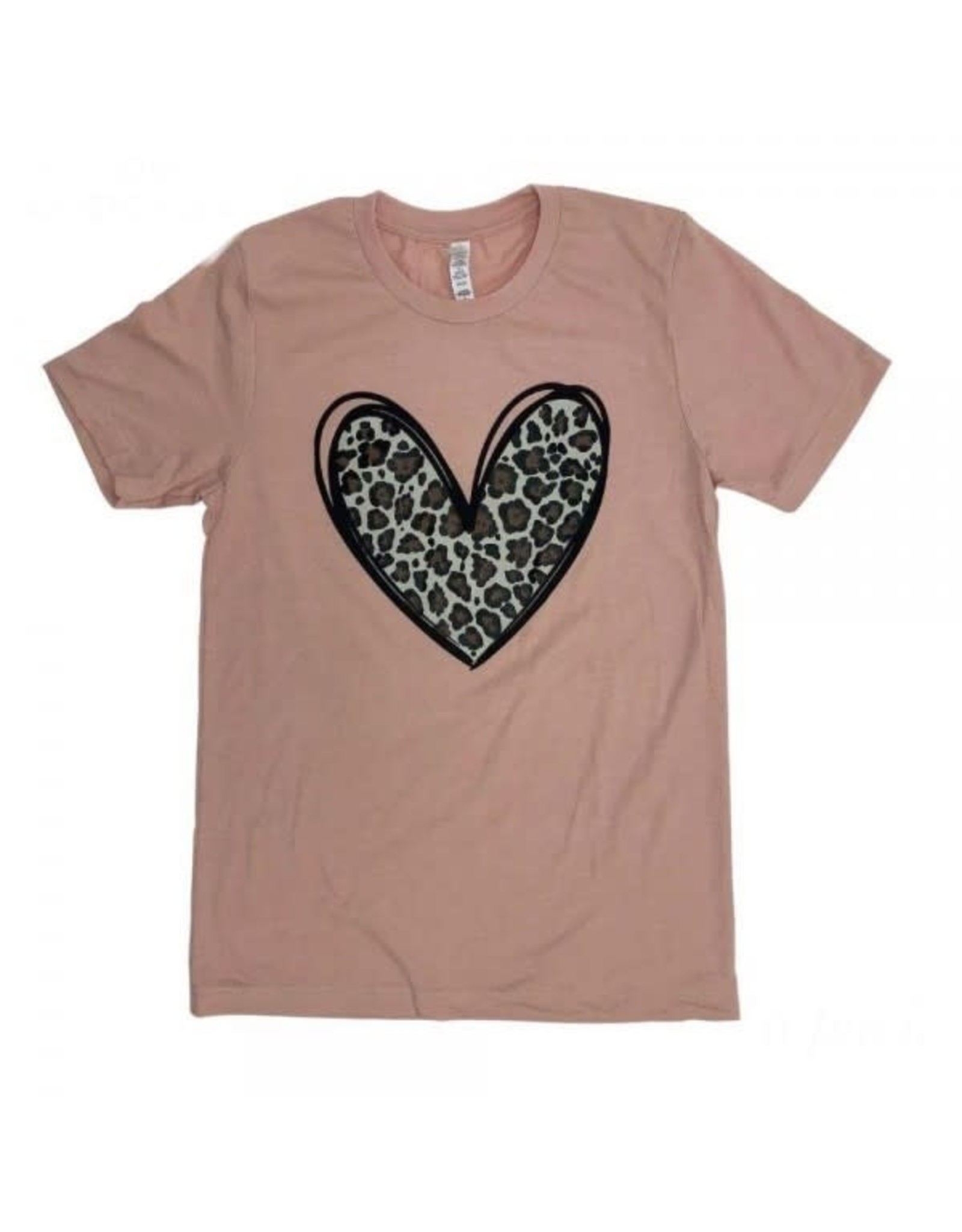 Small Leopard Print Heart Blush TShirt