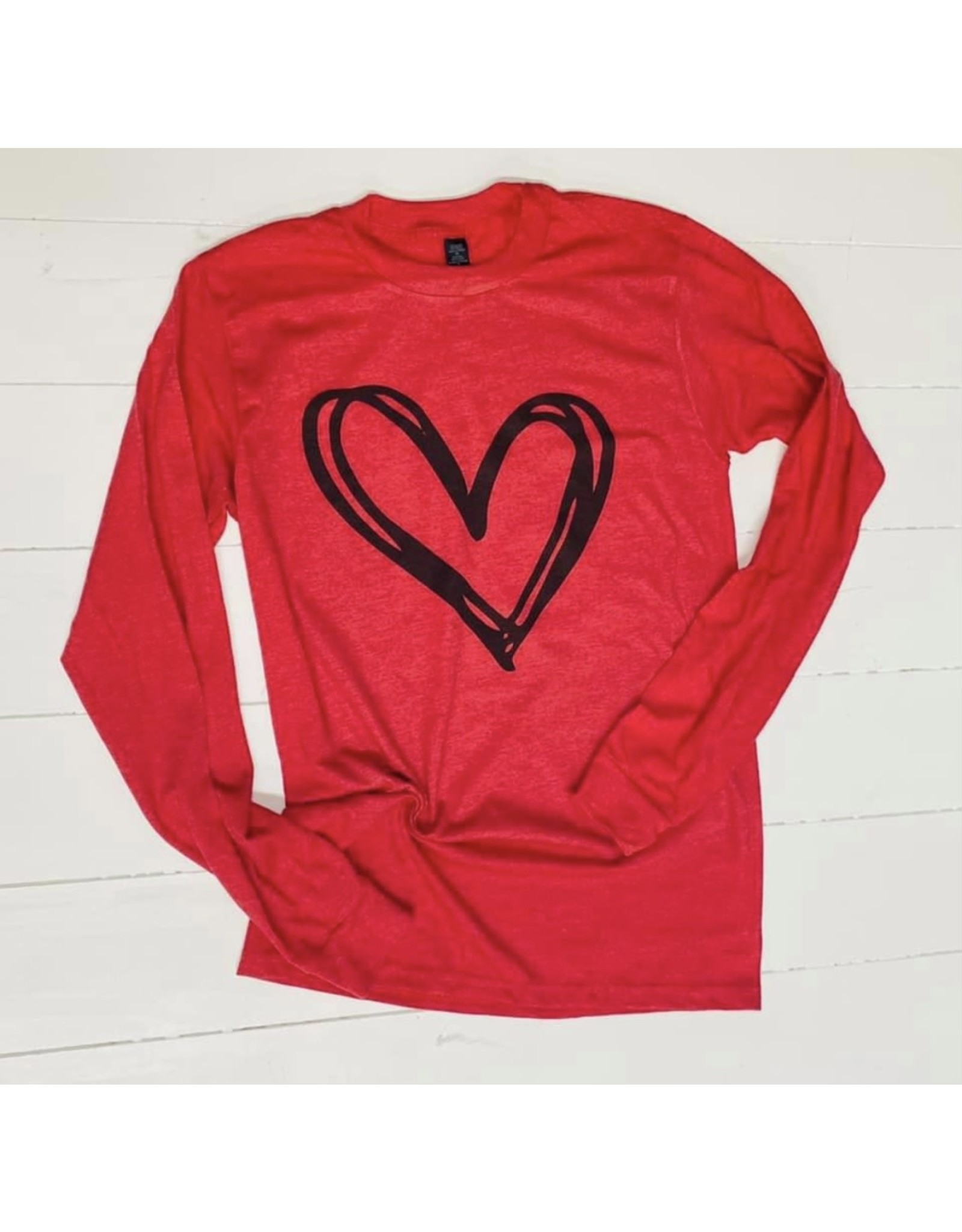 Red Valentine Shirt w/Heart-Large