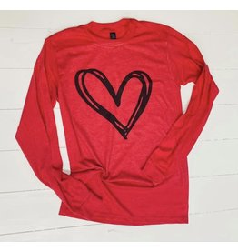 Large Red Valentine Shirt w/Heart