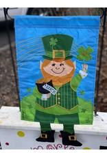 Leprechaun Dangle Leg Garden Flag
