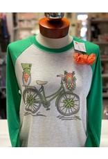 St. Patrick Bike Raglan/Small