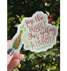 Pop the Bubbly Sticker