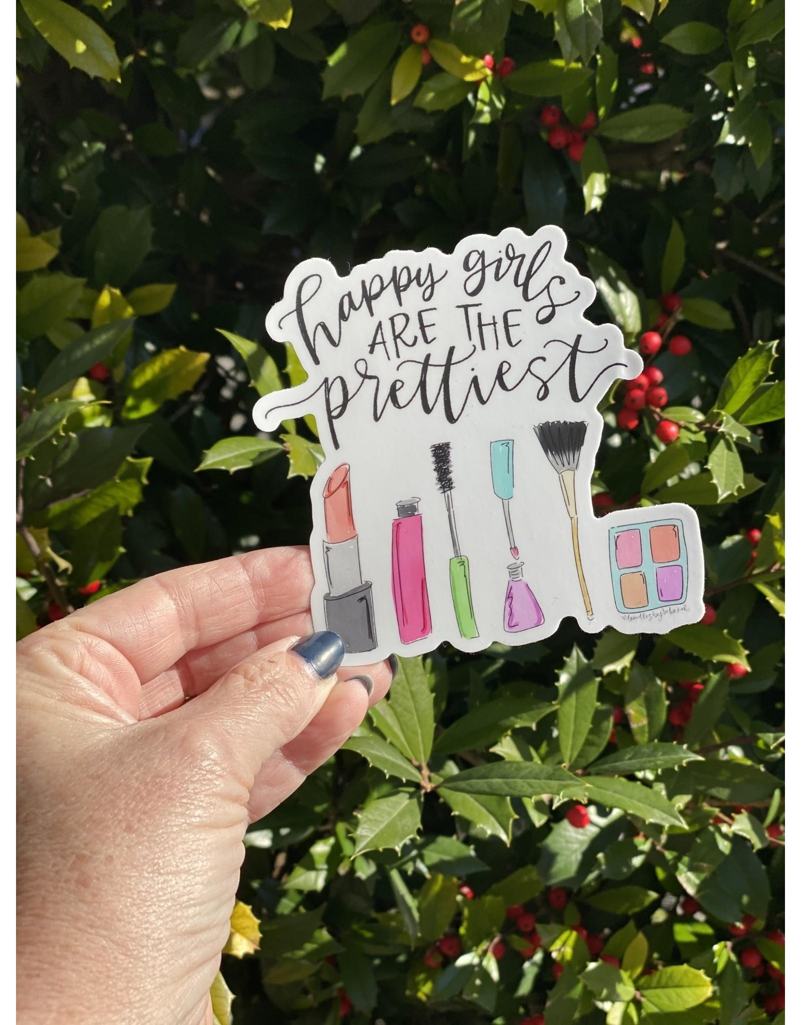 Happy Girls Are the Prettiest Sticker