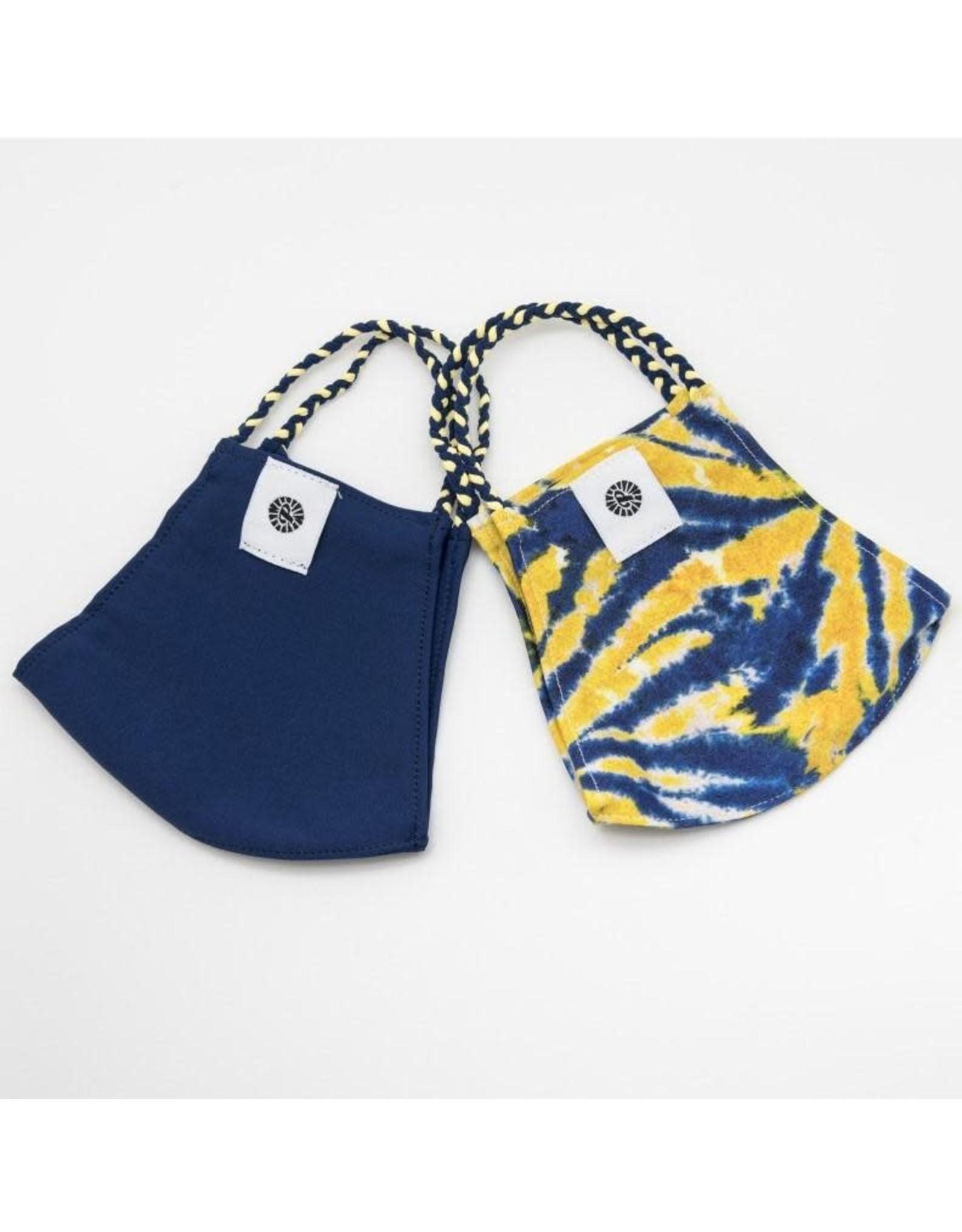 Sunshine Tie Dye/Navy Pomchie Mask