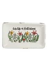 Live Life in Full Bloom Trinket Tray