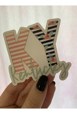 KY coral/navy/mint sticker
