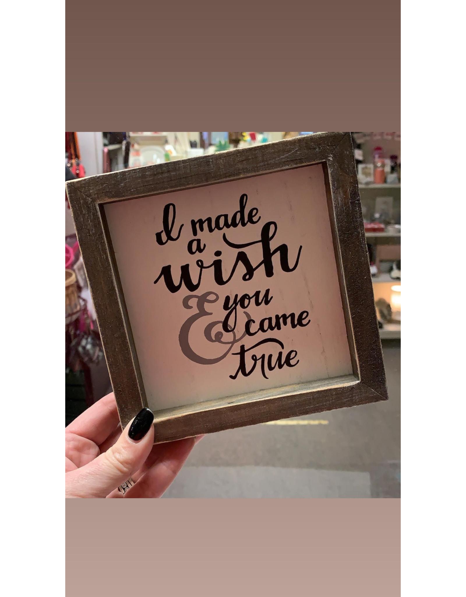 I made a wish framed board
