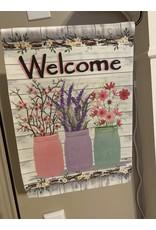 Welcome Jars Garden Flag