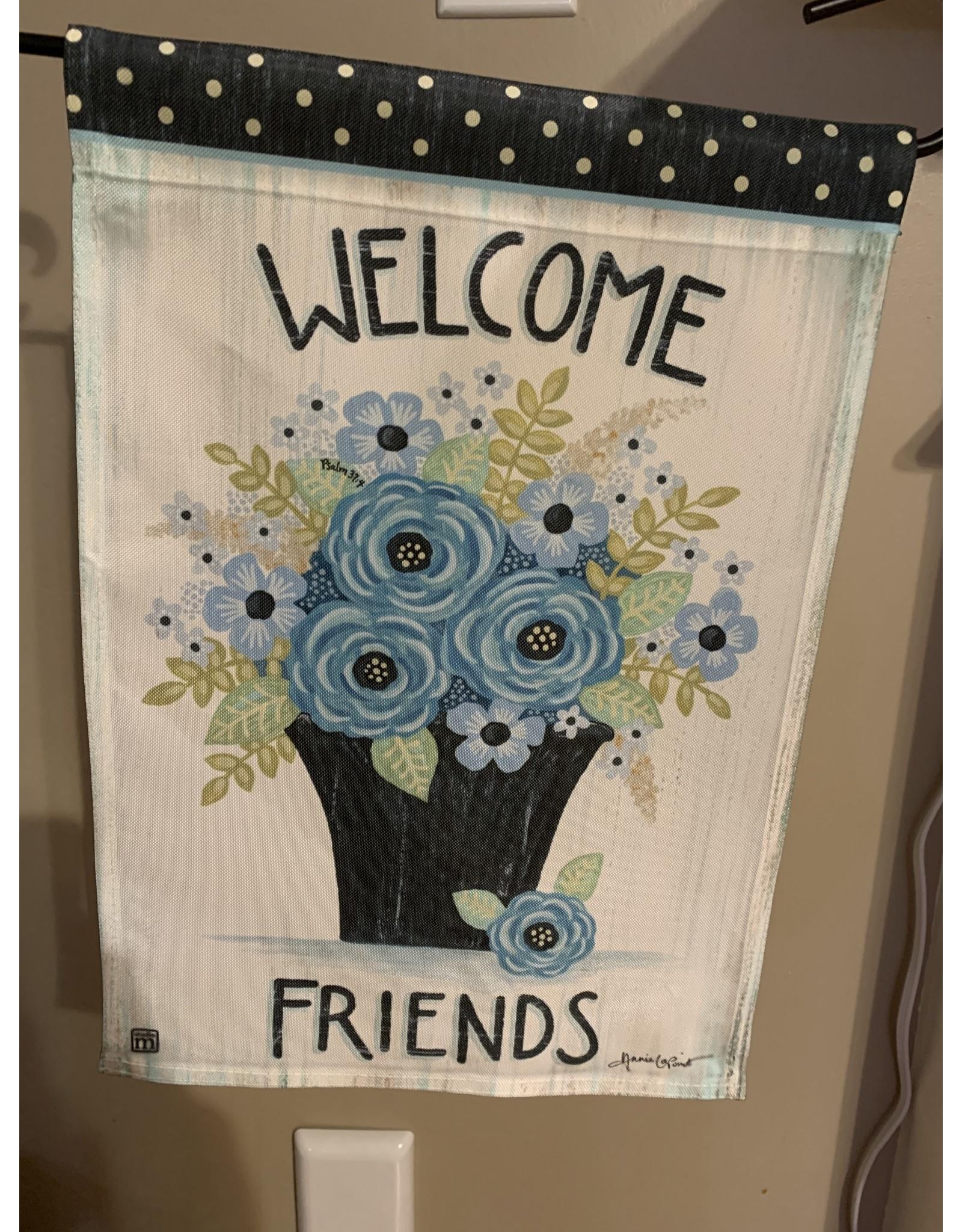 Welcome Friends Garden Flag