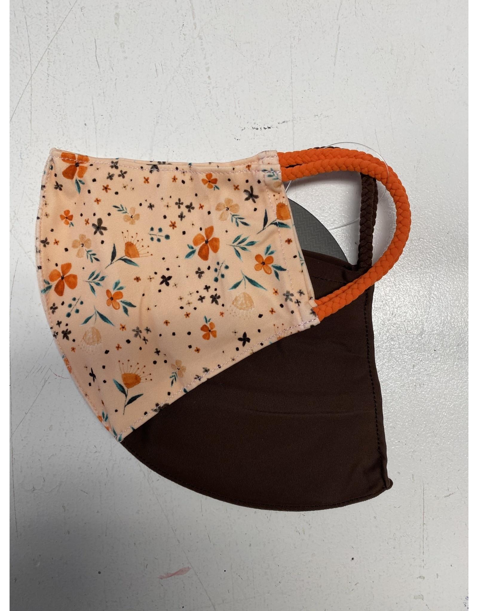 Pomchies Mask - Dainty Flowers/Brown