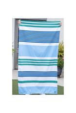 Paradise Stripe Beach Towel/Palace Blue-Royal